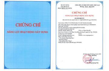 Chứng chỉ năng lực hoạt động xây dựng của Công ty Saigongroup